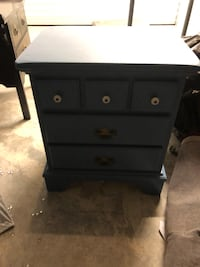 Blue nightstand / end table