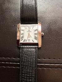 Ladies: White Swiss Analog Leather Watch