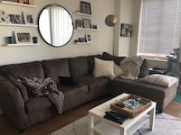 Brown Sectional - one year old Arlington, 22209