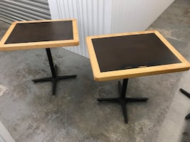 Wooden Tables x 2