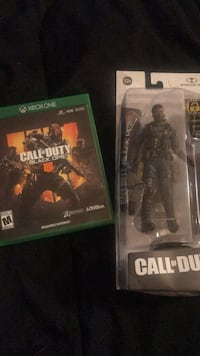 Call of duty black ops 4 for Xbox one, with action figure SERAPH  Rialto, 92376