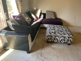 Sectional couch & ottoman .OBO