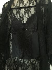 black and gray floral long-sleeved dress 3126 km