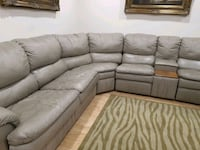 gray leather sectional sofa/bed 2 reclining chairs Vaughan, L4J 5X7