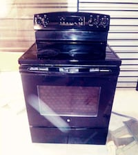 Electrical Stove with Overhead Microwave, Black San Antonio, 78217