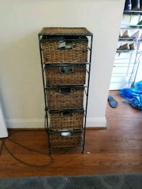 Wicker and wire set of drawers Catonsville, 21228