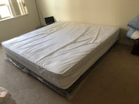 King size mattress with box and with mattress protector Mississauga, L5B 4A1
