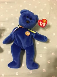 Five Beanie Babies bears ~ Clubby, Curly, Fortune, Princess, Valentino Centreville