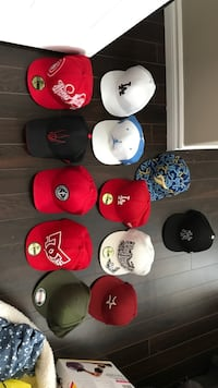 assorted color of fitted caps St. John's, A1S 1C2