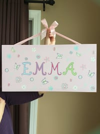 Hand painted 'Emma' wall decor