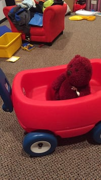 Child's toy wagon with brand new gap bear inside. ( I bought as a baby gift...). Vaughan, L4J 5L7