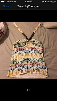 yellow,green,and blue floral halter top Loveland, 45140