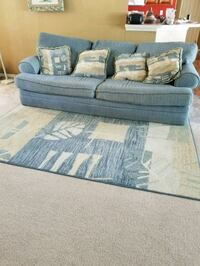 Couch, loveseat and matching area rug 784 mi