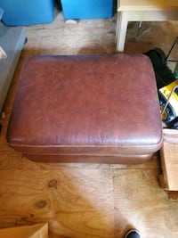 brown wooden frame with brown leather padded chair Chesapeake, 23324