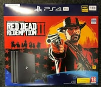 PS4 Pro 1TB Red Dead 2 game New Console Toronto
