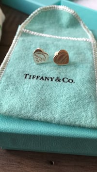 Silver heart return to Tiffany earrings  Vancouver, V6Z 1X9
