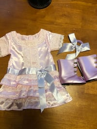 American Girl Doll Samantha Frilly Frock Outfit with Boots Fredericksburg, 22406