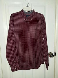 Burgandy button up
