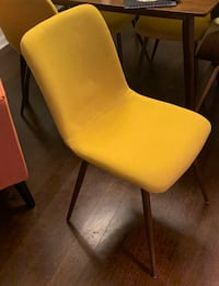 Mid century yellow felt chairs , brand new  Washington, 20002