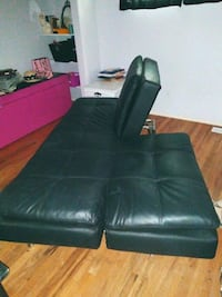 black leather tufted sofa chair Chico, 95926