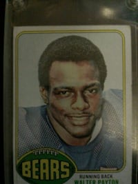 Bears running back Walter Payton trading card