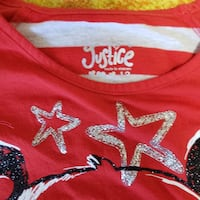 Justice fancy panda shirt size 12 girls excellent condition Calgary, T3K 6E7
