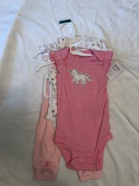 3 piece 3 month unicorn baby girl new outfit Manassas, 20111
