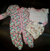baby's white and pink floral footie pajama Brampton, L6S