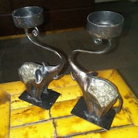 (2) ELEPHANT CANDLE HOLDERS Dilworth, 56529