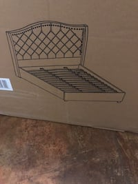 BEAUTIFUL BRAND NEW KING SIZE BED FRAME- IN BOX- NOT NEGOTIABLE