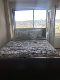 Queen Bed + Frame + Mattress +Boxspring Arlington