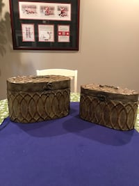 Metal Storage Container Set Of Two