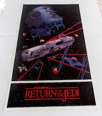 STAR WARS POSTER FROM 1983 RARE AND VINTAGE!! Toronto