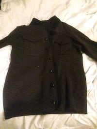 black button-up long-sleeved shirt cardigan sweate 25 mi