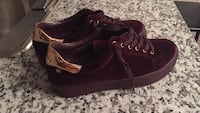 Pair of maroon vans high-top sneakers size 11(New) Edmonton, T6W 3N4