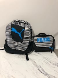 Puma Knapsack with matching Lunch Bag
