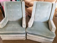 two gray fabric padded armchairs Costa Mesa, 92626