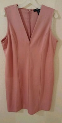 Women's Plus Size Pink V-Neck Dress Size-3X Saint Paul, 55130