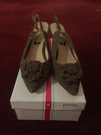 Brown Suede Sling back Shoes Mississauga, L5M 7E7