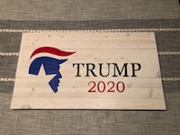 White washed Trump 2020 reclaimed wood wall mounted  Miramar