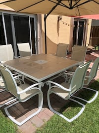 Patio dining set huge table 8 chairs great condition Cutler Bay, 33190