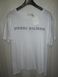 белая футболка Pierre Balmain Paris совок Moskva, 105064