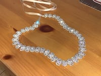 silver and diamond studded necklace Upper Marlboro, 20772
