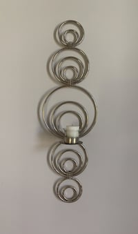 Silver metal decor wall sconce
