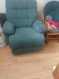 gray fabric padded glider chair Moncton, E1C 8E9