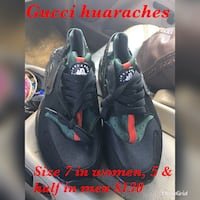 Gucci huaraches size 7 in women, 5 & half in men Detroit, 48213