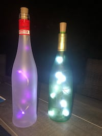 Decorative LED bottles different shape & colors Montréal, H4K 1J6