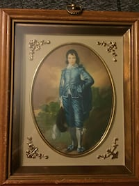 Antique Turner Wall Accessory Blue Boy & Pinkie Litho 3D Style Glass Frame - this is a Turner Wall Accessory Antique 1950's Lancaster, 93536
