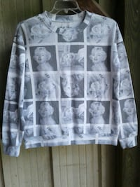 black and white Marilyn Monroe printed sweater