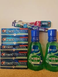 Crest and Oral-B toothpaste toothbrush bundle  Rockville